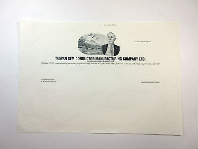 China. Taiwan Semiconductor Manufacturing Co. Ltd., Proof Certificate  XF