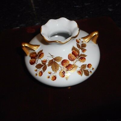 "Antique White with Gold Berry Handpainted Design - 3 1/3"" Legs and arms gilded"