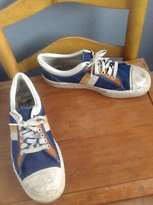 Super Vintage Pro Keds Looking Basketball Sneakers, Made in USA, sz 9 1/2
