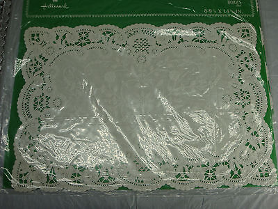 """Lot Of 48 Hallmark French Lace Doilies Placemat New Old Stock 10""""x14 1/2"""""""