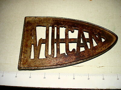 Antique Cast Iron Three Footed Sad Iron TRIVET VULVCAN