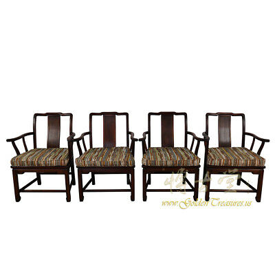 Vintage Chinese set of 4 Teakwood Dinning Chairs 17LP08