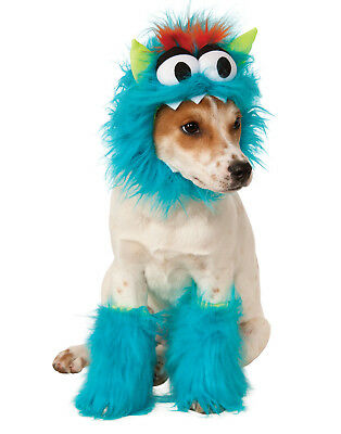 Blue Fluffy Monster Sully Pet Dog Cat Halloween Costume