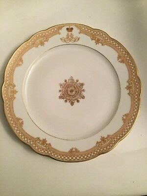 ANTIQUE RUSSIAN IMPERIAL PORCELAIN FACTORY Plate from the TSAR ALEXANDER III