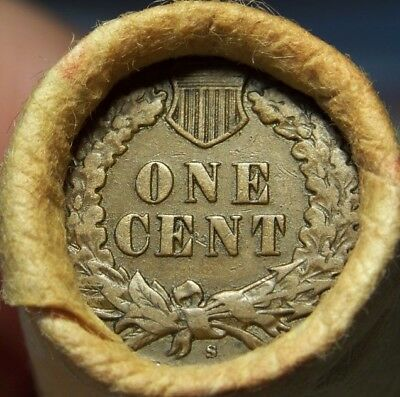 S Tail Indian/1899 Indian Ends Unsearched Estate Roll Wheat/indian Cents #1976