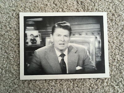 Ronald Reagan TV AD PHOTO support THANK YOU personal note SIGNED Autograph