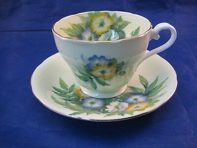 Vintage Aynsley Tea Cup and Saucer - Bone China - England - Unusual Coloring