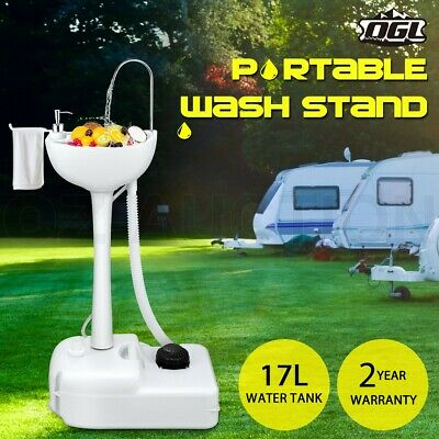 19L Water Capacity Camping Portable Sink Food Wash Basin Stand Outdoor Event
