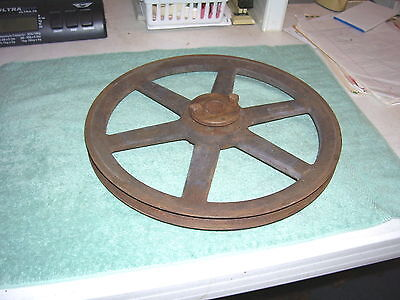 Vtg Cast Iron Browning BK130H Pulley • 6 Spokes • Steampunk Decor Industrial
