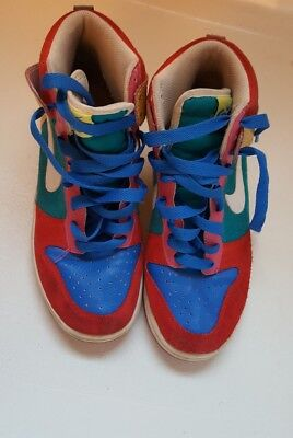 best website 969f6 7d34a Nike Dunk High 6.0 Womens Sz 8.5 Shoes Multicolor 342257-611 Red Blue  Sneakers