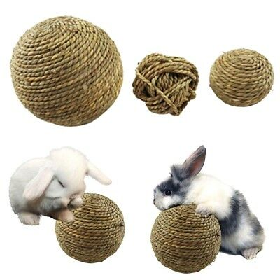 Cute Pet Chew Play Toy Natural Grass Ball for Rabbit Hamster Guinea Mice Cat TOP