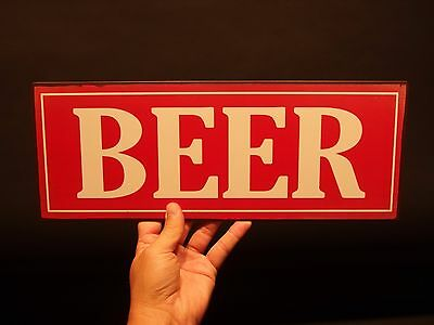 Vintage Antique Style Metal Beer Bar Tavern Restaurant or Man Cave Trade Sign
