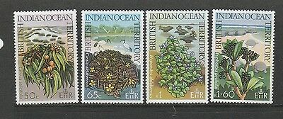 BIOT 1975 Wildlife, Seashore plants, UM/MNH SG 77/80