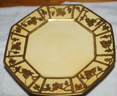 """T & V Limoges FRANCE Octagonal Bowl Footed 9.5"""" wide Good Condition"""