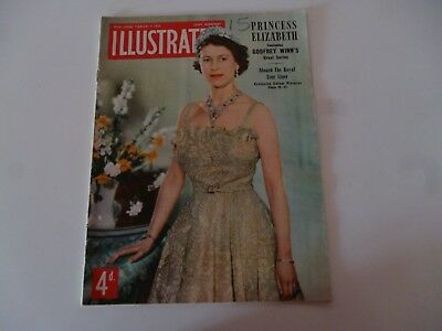 Illustrated February 9 1952 Princess Elizabeth, Royal Liner,british P.o.w. Korea