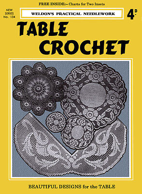 Weldon's 4D #134 c.1938 Table Crochet - Pattern book Of Lovely Laces for Home
