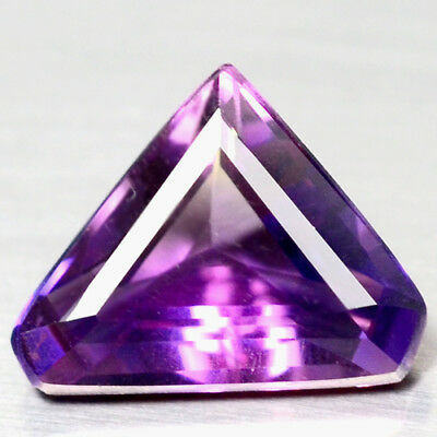 8.12 Ct Aaa! Purple Clr Change To Pink Brazilian Amethyst Triangle