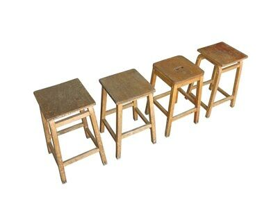 Old Wooden Stools Ideal For Pubs and Restaurants - Bar Seats Reclaimed