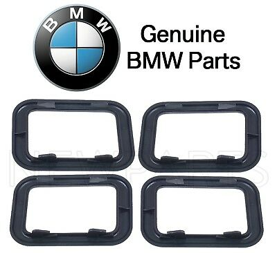 For BMW E30 E28 Base Sedan Front & Rear Covering Inside Door Handles Black OES
