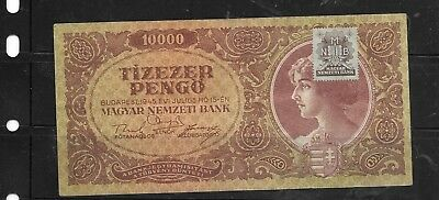 HUNGARY #119a VERY good CIRC VINTAGE OLD 1945 10000 PENGO BANKNOTE PAPER MONEY
