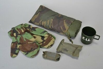 British Military Cold War Issue Arctic Gloves, Soap, Field Dressing & Towel. DJJ