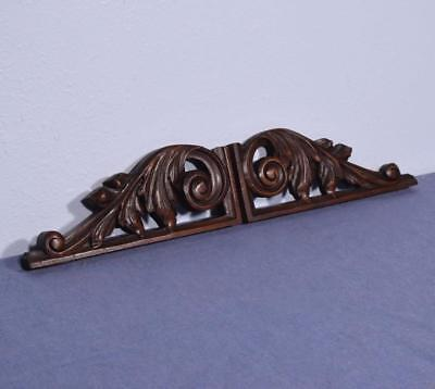 *French Antique Renaissance Walnut Wood Brackets Salvage Trim