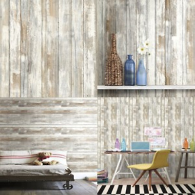 Wallpaper Decor Distressed Wood Peel and Stick Wallpaper Decor Rustic Wood New