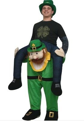Carry Me Buddy Ride On A Shoulder Piggy Back Ride Leprechaun Costume AS IS