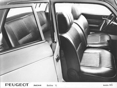 1973 Peugeot 304 Sedan S Interior ORIGINAL Factory Photo oua1655
