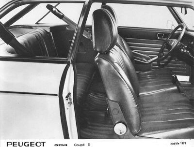 1973 Peugeot 304 Coupe S Interior ORIGINAL Factory Photo oua1660
