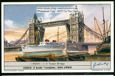 Tower Bridge London England 50 Y/O Trade Ad Card