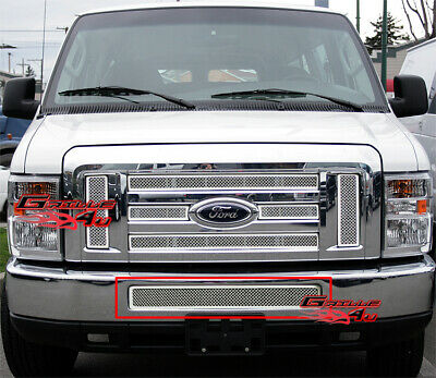 Fits 2008-2013 Ford Econoline Van/E-Series Bumper Stainless Steel Mesh Grille
