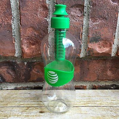 AT&T Logo Water Fitness Filter Water Bottle Clear & Green