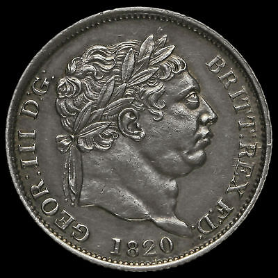1820 George III Milled Silver Shilling