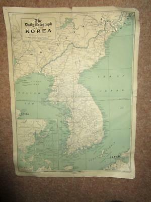 the daily telegraph map of KOREA