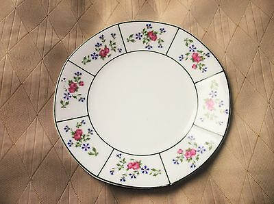 Old Side Plate Elegant Roses Green Lines Jp Limoges Pouyet Stamped May 12Th 1908