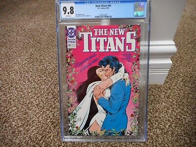 New Titans 66 cgc 9.8 Great Raven kissing Ravenous Liaisons DC 1990 Teen MINT