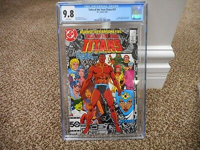 Tales of the Teen Titans 57 cgc 9.8 Mask preview Cyborg cover MINT WHITE pages