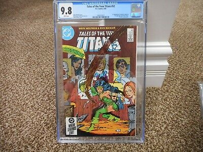 Tales of the Teen Titans 52 cgc 9.8 1st appearance Azrael Cheshire DC 1985 MINT