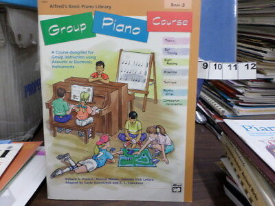 group piano course alfred's basic piano library book 3 MUSIC BOOK