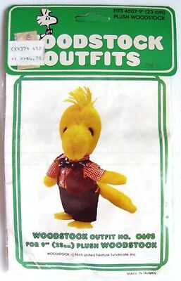 """Vintage 1981 Peanuts Snoopy WOODSTOCK COWBOY OUTFIT #0693 for 9"""" PLUSH - MIP"""