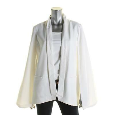 Alfani 0979 Womens White Cap Sleeves Open Front Woven Casual Vest Blazer XL BHFO