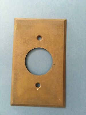 "Bryant Vintage Brass 1 3/8"" Hole Outlet Beveled Plate Cover"