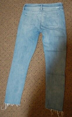 Nwt $228 Mother Looker Sz 25 Ankle Fray Cloud Castle Jeans Skinny Frayed Crop