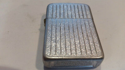 VERY Nice  VINTAGE STORM KING Silver  ALUMINUM LIGHTER with new flint