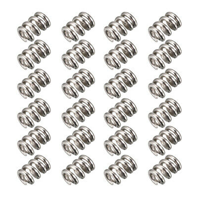 1.5mm X 7mm X 10mm Compression Nickelé Ressorts Ressorts Extension 24Pcs
