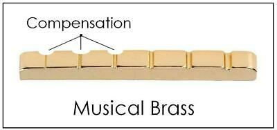 "AxeMasters 1 9/16"" / 40mm COMPENSATED Brass Nut made for Fender MINI Guitar"