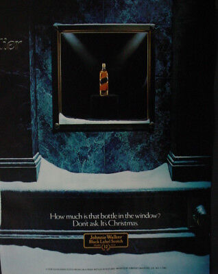 1982 Johnnie Walker Black Label Scotch Whisky Vintage Print Ad 12851