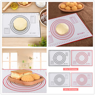 Silicone Dough Rolling Mat Baking Mat Pastry Clay Pad Sheet Liner Non-Stick Tool