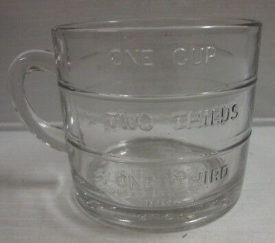 Antique Advertising Glass Measuring Cup Pickering's Home Furnishers Pittsburg